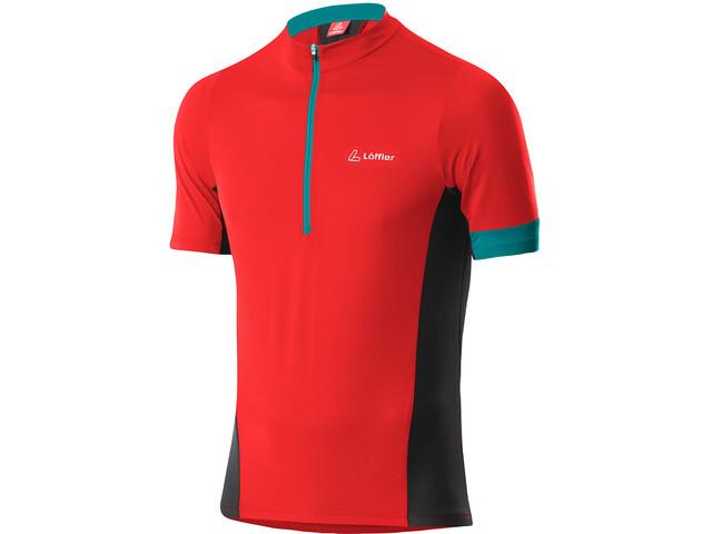 Löffler Pure Half-Zip Bike Jersey Men, rojo